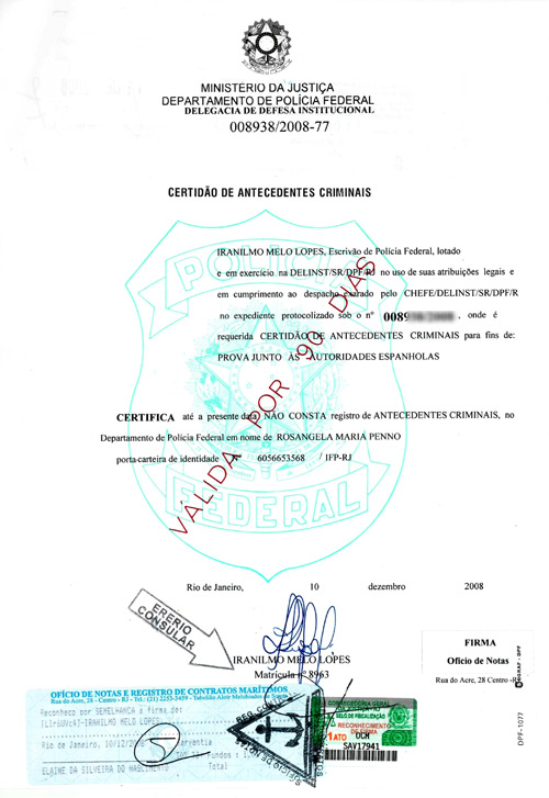Traducción Jurada: Certificado Penales