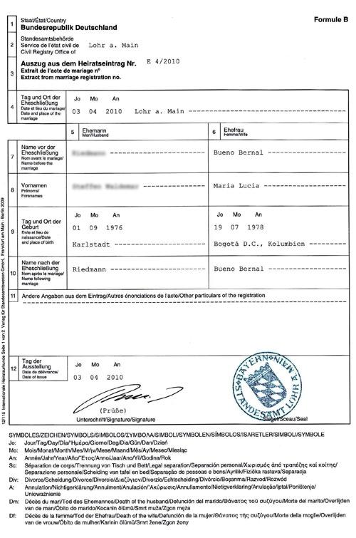 Traducción Jurada: Certificado Matrimonio