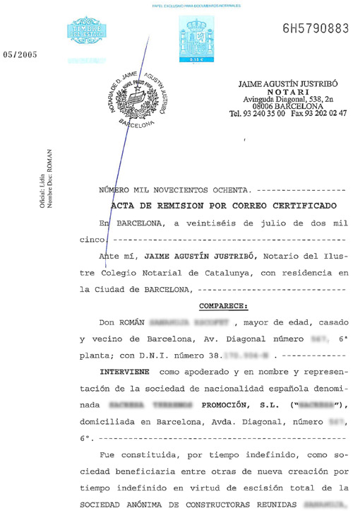 Traducción Jurada: Escritura notarial